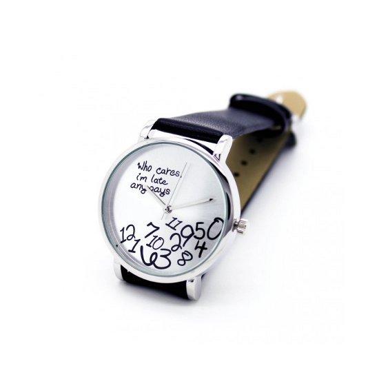 Náramkové hodinky - I am late anyway černé - DárkyNET.cz 78a5e578375